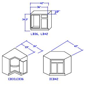 Genial One Linear Inch Of Standard Corner Base Cabinets